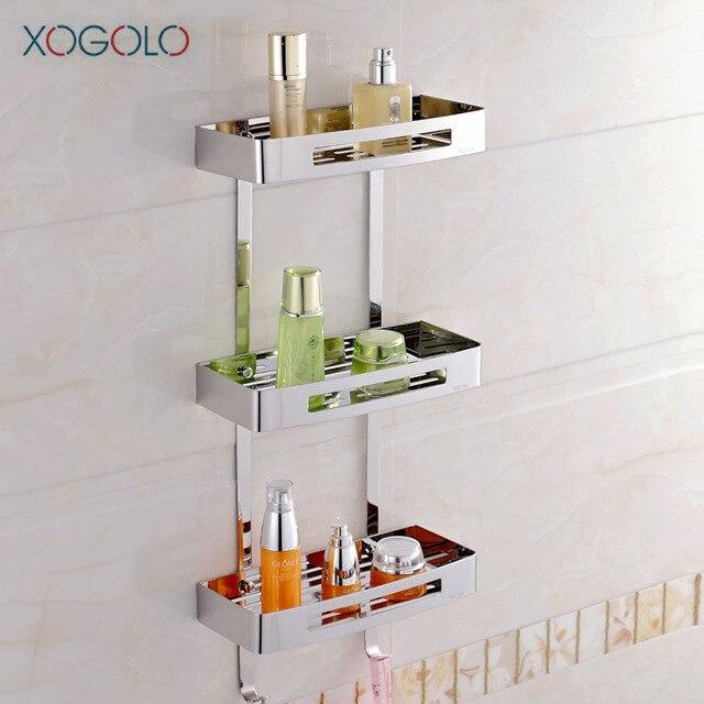 Xogolo Triple Tier Edelstahl 304 Moderne Wandregal Mode Ecke Bad