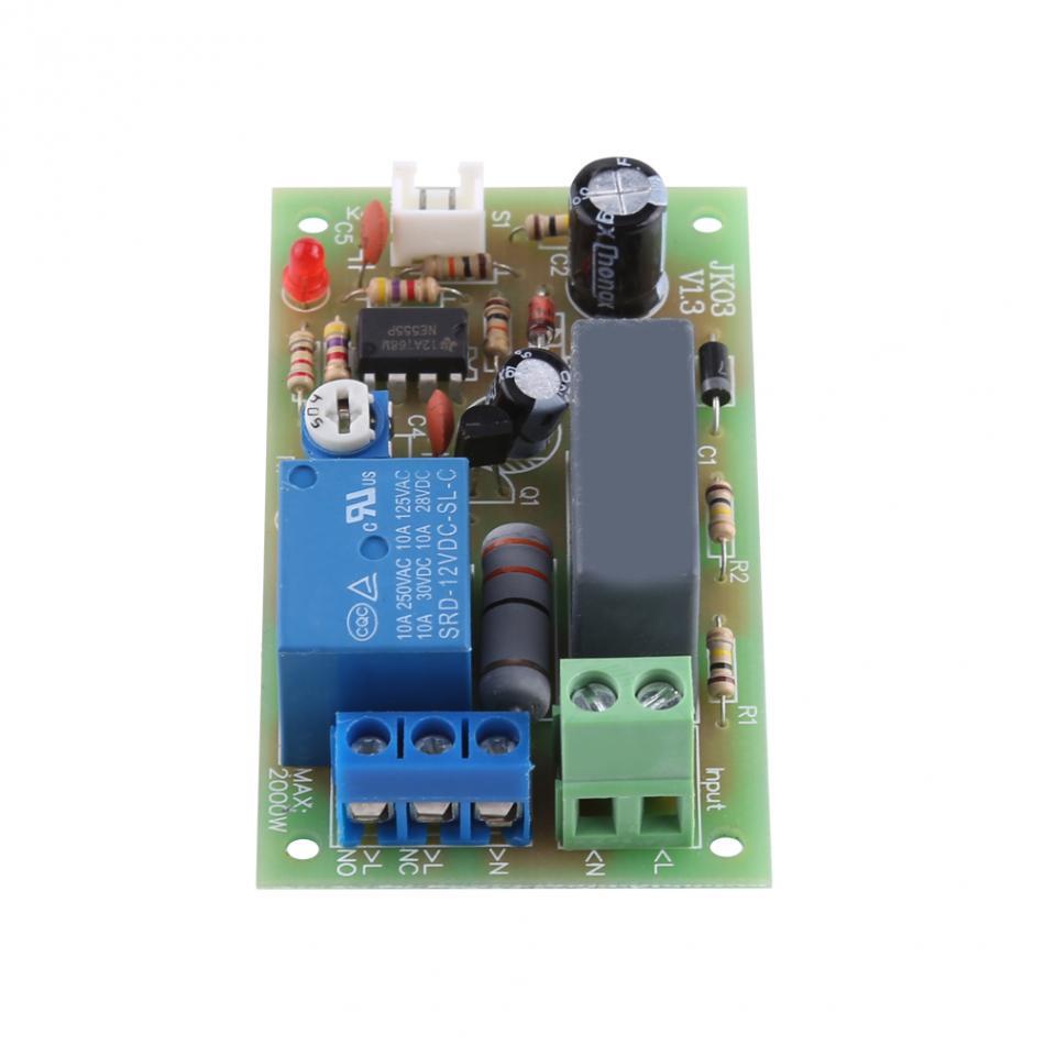 AC 220V M/ódulo de Interruptor de Retardo de Temporizador M/ódulo de Rel/é de Retraso de 1s-60s 1s-5min 1s-5min Ajustable