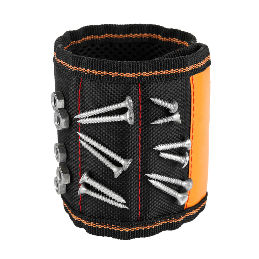 Magnetic Wristband With 10/15pcs Strong Magnets Screw Drill Bits Holder Electrician Tool Belt SDF-SHIP
