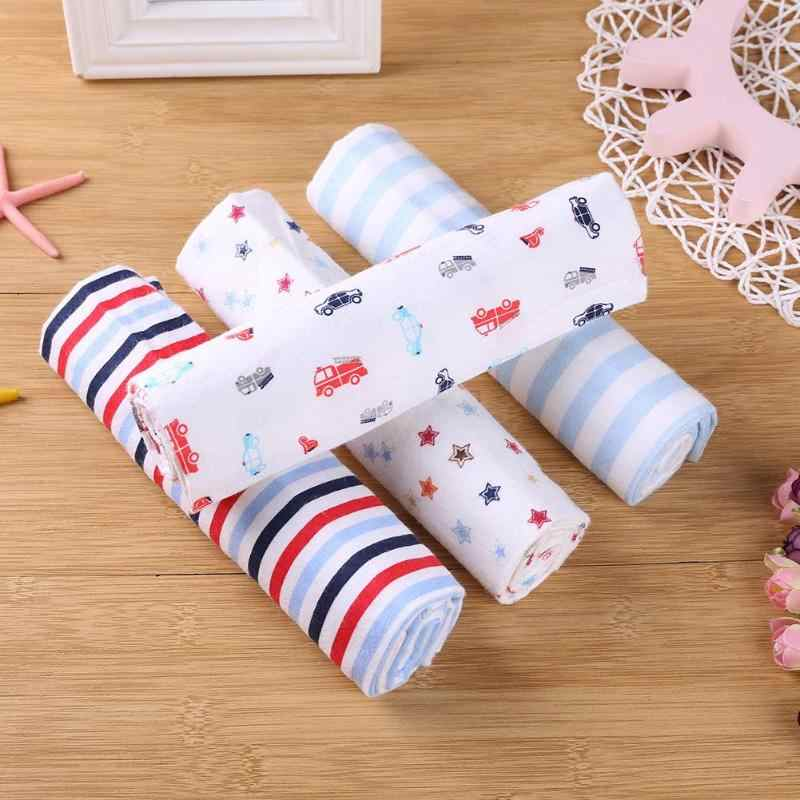 4 шт./компл. детское одеяло s постельные принадлежности Младенцы банное полотенце простыня хлопок милый Принт пеленки для Новорожденных Обертывание одеяло для новорожденных