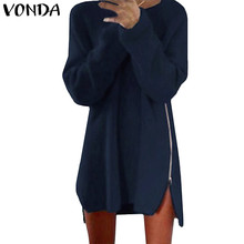 VONDA Pregnant Women Casual Loose Blouses Shirts 2018 Pregnancy Long Sleeve Pullover Tops Maternity Clothings Plus Size 5XL