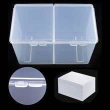 Get more info on the 1pc Clear Compartments Holder Organizer Container Gel Polish Remover Cleaning Cotton Pad Swab Storage Box- Organizer For Make Up
