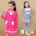 2 pçs/set meninas define roupas de algodão e de manga comprida vestido de roupas