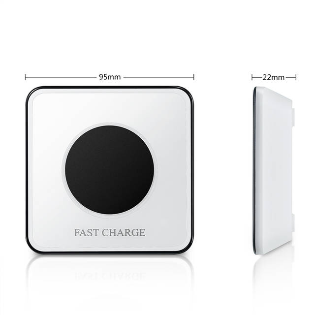 Fast Wireless Charger with Vibration Sensing LED Night Light Charging for  IPhone X XR XS Max 7 8 Plus Samsung Galaxy S6 S7 S8 S9