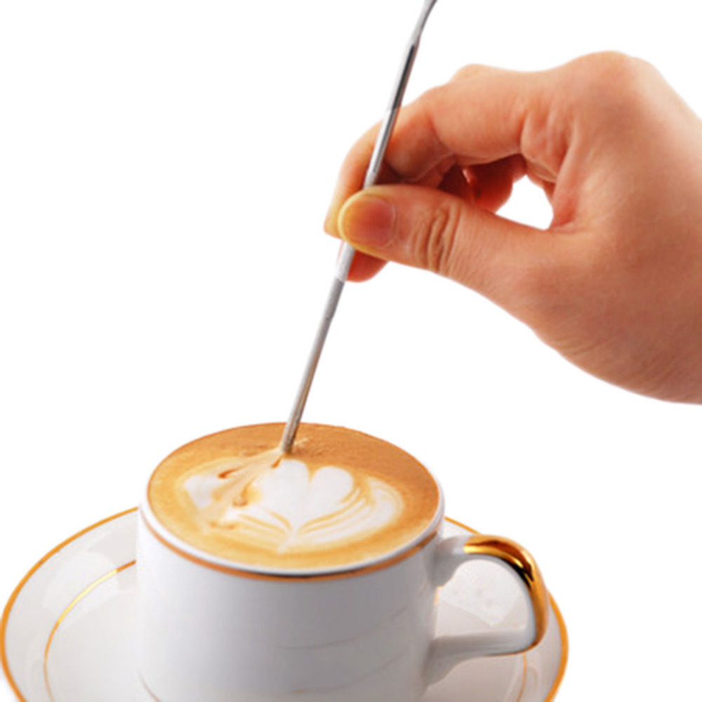 1 Pcs Hot Sale Barista Cappuccino Latte Espresso Coffee Decorating Pen Coffee Art Needle Art Household Kitchen Cafe Tool