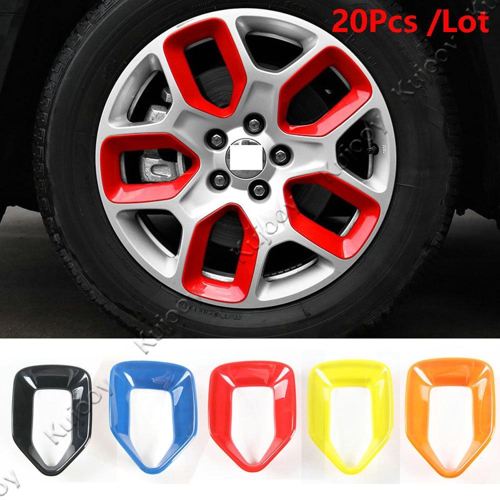 New Jeep Renegade >> 20pcs 5Colors Wheel Hub Stickers Sticker Car Wheel Hub Cover Rim Wheels Rims For Jeep Renegade ...