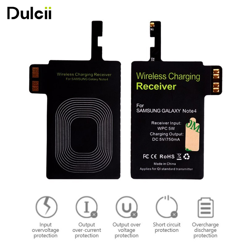 DULCII For Samsung Note 4 N910 Qi Wireless Charging