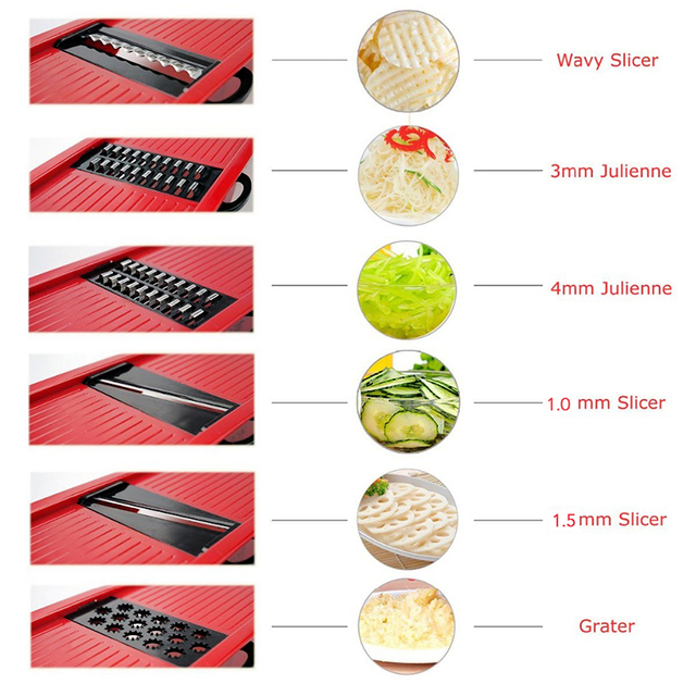 Myvit Vegetable Cutter with Steel Blade Mandoline Slicer 5