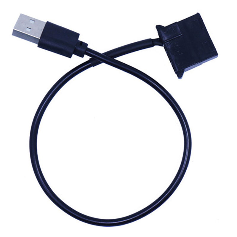 1pc  4Pin Female To 5V USB Male USB Adapter Cable USB To 4 Pin Molex Fan Power Cable Computer Case Adapter Cord