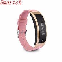 Smartch умный Браслет Talk Band сердечного ритма крови Давление монитор Шагомер Bluetooth SmartBand часы, чем Huawei B3 +