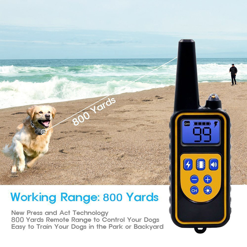 Dog Training Collar Waterproof Rechargeable Remote Control Anti Barking Single Dual Electric Shock Bark Deterrents Pet Supplies in Bark Deterrents from Home Garden