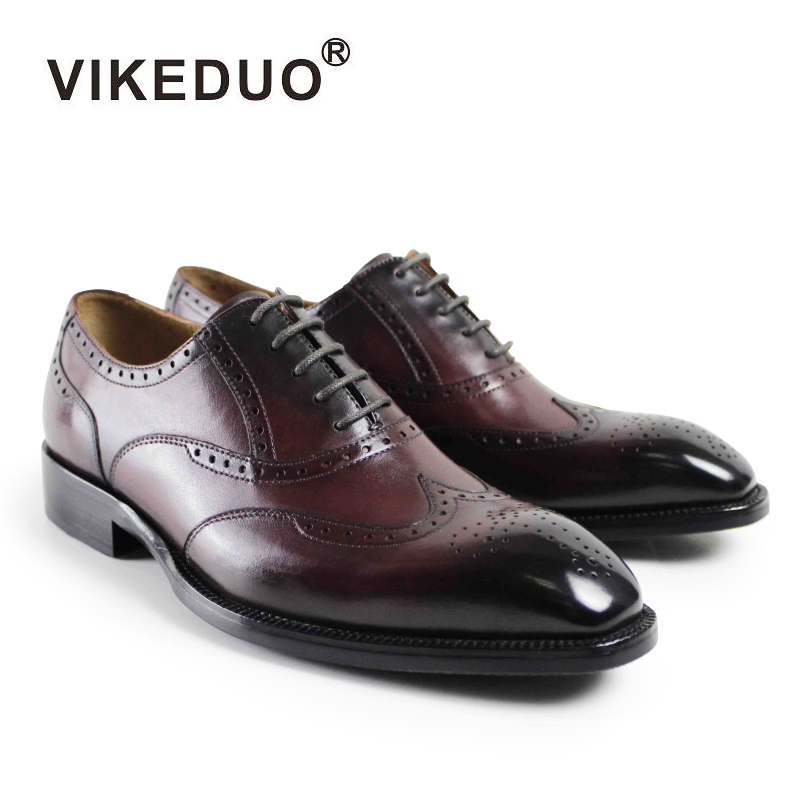 VIKEDUO Hot 2018 Vintage Retro Mens Oxford Shoes Handmade Custom GOODYEARS Luxury Party Dress Shoes Male Genuine Leather Shoes цены онлайн