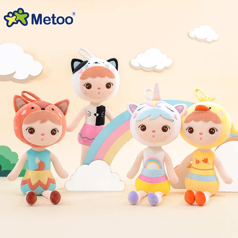 Newest 48CM Plush Metoo Doll Soft Stuffed Unicorn Keppel Children Girl Doll Kids Toy Fox Kitty Cute Ornaments Toys For Girls