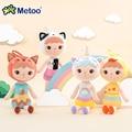 Новинка, плюшевая кукла Metoo, 48 см, мягкая игрушка, единорог кепппель, Детская кукла для девочек, детская игрушка, лиса, Китти, милые украшения, ...
