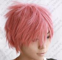 100 Brand New High Quality Fashion Picture Wig Can Hot Fairy Tail Natsu Dragneel Short Pink