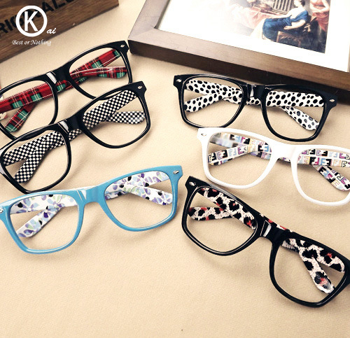 2015 classes trend decoration glasses frames without mirrorcolorfulflowerwomen men eyeglasses