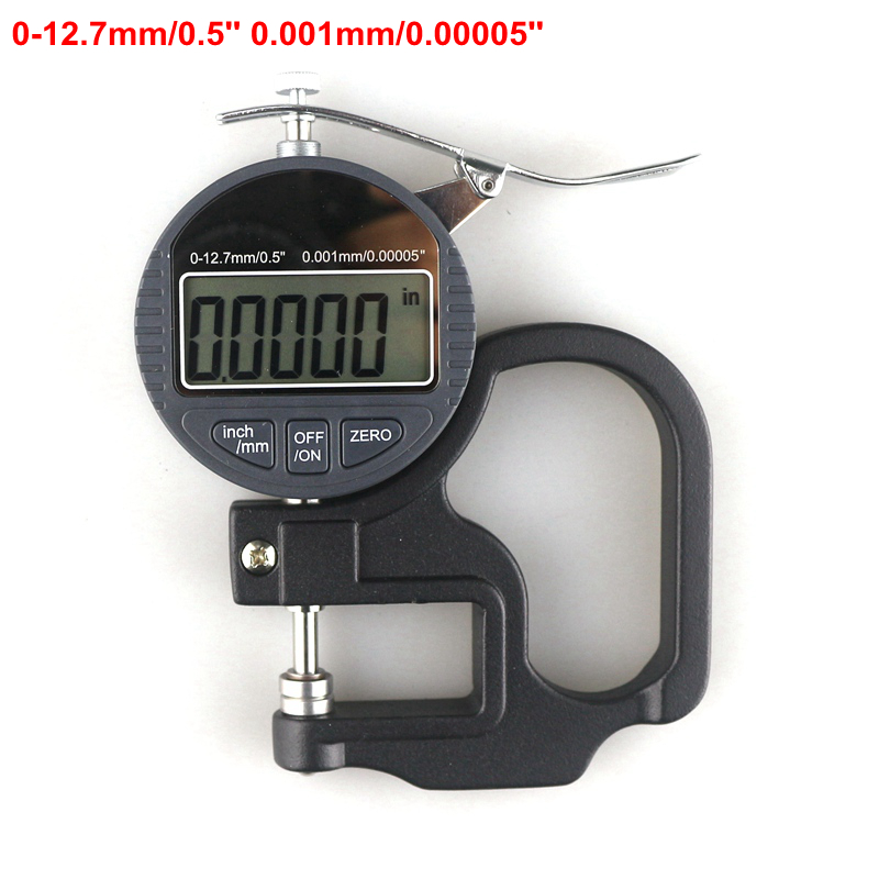 0-12.7mm/0.5'' Digital Depth Caliper Micrometer 0.001mm Thickness Gauge Mikrometer  thickness gauge deep throat measuring caliper 0 10 120mm depth
