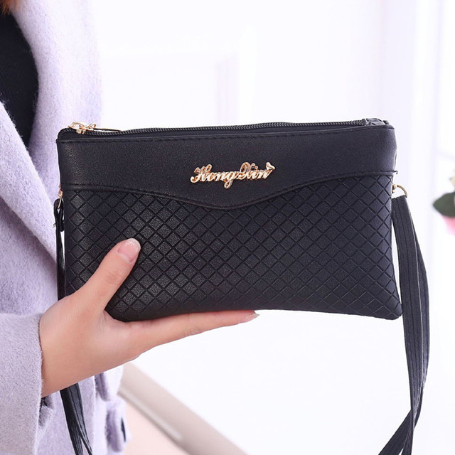 3ec104a914ed 2018 New Fashion Women Clutch Bag Small Shoulder Bag Plaid Pattern Designer  Woman Messenger Bags Ladies Handbag Day Clutches