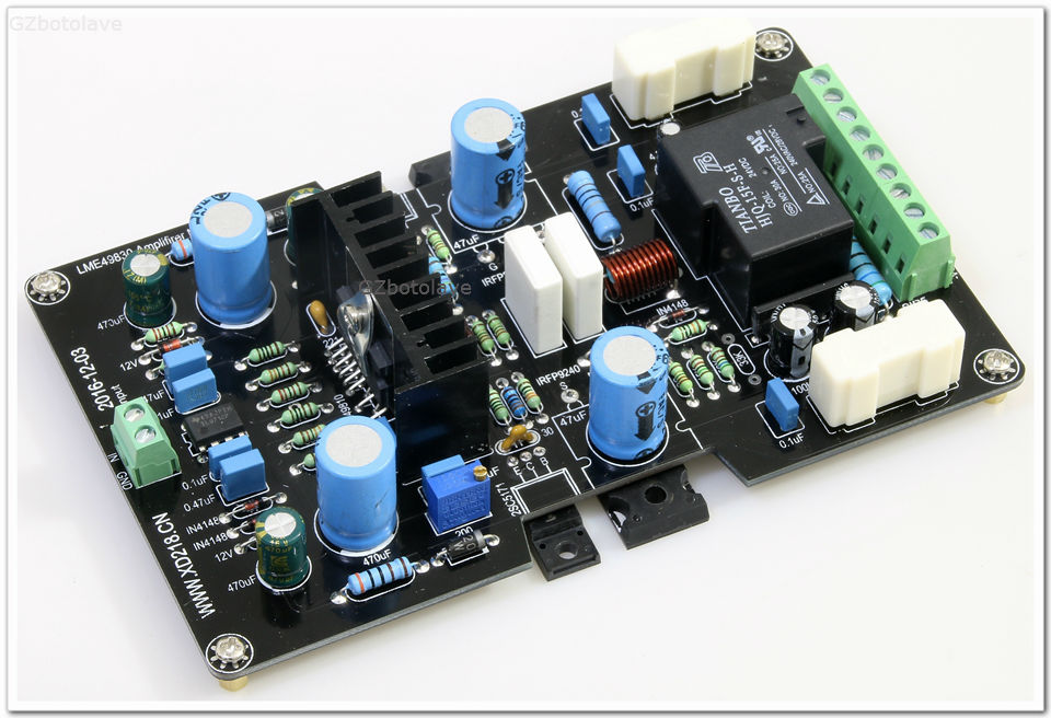 Free Ship Finished 100W 4ohm Mono LME49830 IRFP240/IRFP9240 Amplifier Board DC+-55V