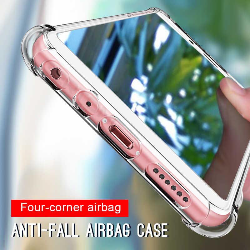Jelas Phone Case untuk Xiaomi Redmi Note 7 5 6 Pro 6A 5 Plus Kristal Airbag Cover untuk Xiaomi Mi9se 8 A2 Lite Mi8 Se Mi6 Mi6X Mi5X