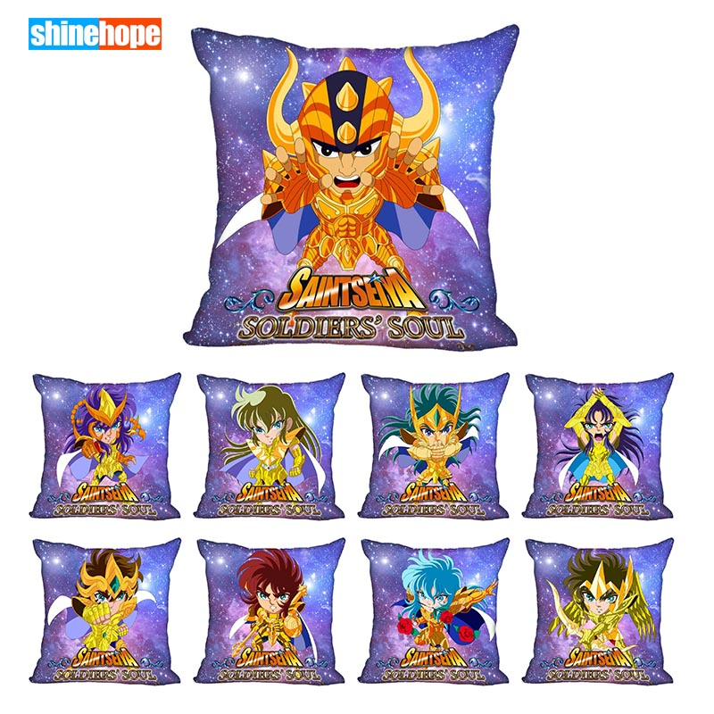 Best Saint Seiya Pillowcase Wedding Decorative Pillow Cover Custom Gift For (one Sides) Printed Pillow Cases