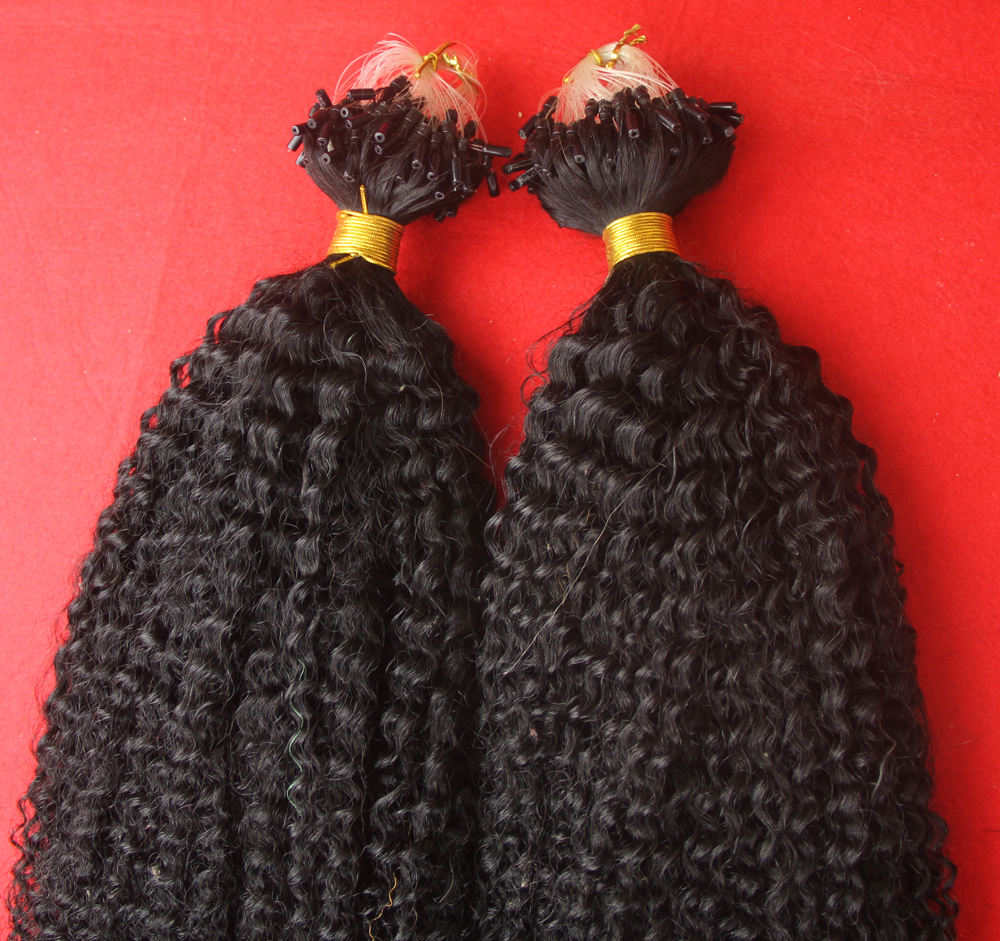 Cheap Sale Afro Kinky Curly Micro Loop Hair Extensions Human 100s 6a