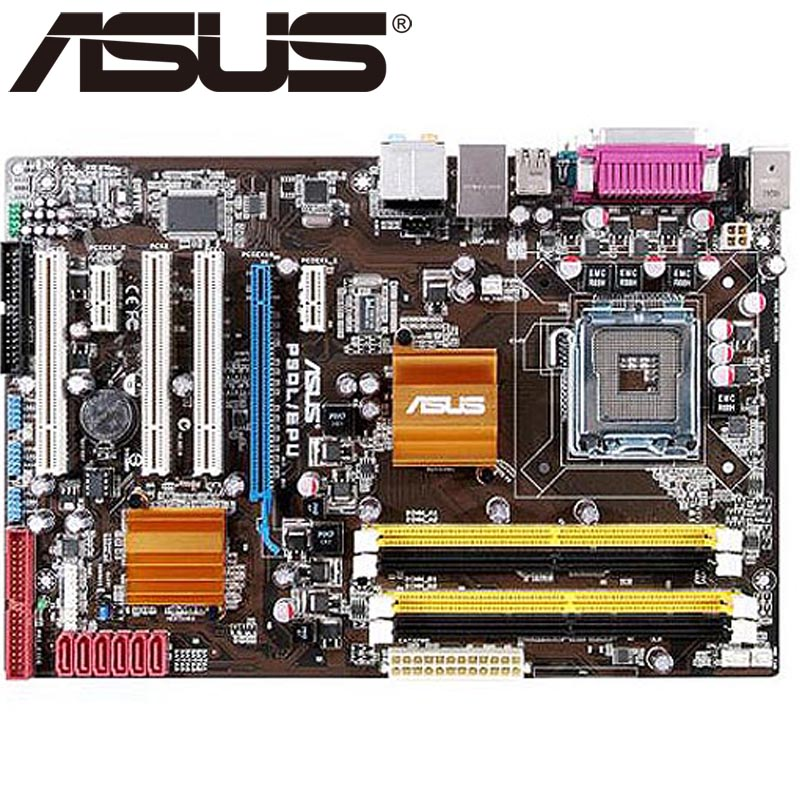 Asus P5QL/EPU Desktop Motherboard P43 Socket LGA 775 Q8200 Q8300 DDR2 16G ATX UEFI BIOS Original Used Mainboard On Sale asus p8h61 m le desktop motherboard h61 socket lga 1155 i3 i5 i7 ddr3 16g uatx uefi bios original used mainboard on sale