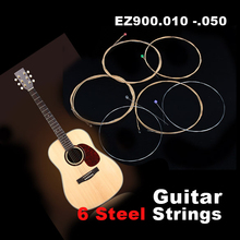 Long lasting Electric Guitar Acoustic Set of EZ900.010 -.050 6 Steel Guitar Strings Guitar Accessories