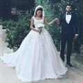 Royal Белое Свадебное Платье Аппликации Платье De Noiva Длинные Свадебные Платья Классический Принцесса Свадебные Платья Timeless Ближнего Востока