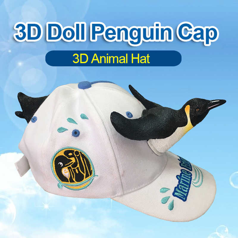 09b7c3d7 2019 New Fashion 3D Cute Penguin Hat Cartoon Baseball Caps Men And Women  Christmas Gift Dad