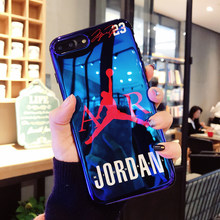 New fly man Jordan Blu-ray soft silicon cover case for iphone 6 6S plus 7 7plus 8 8plus X XR XS Max jump man phone cases coque(China)