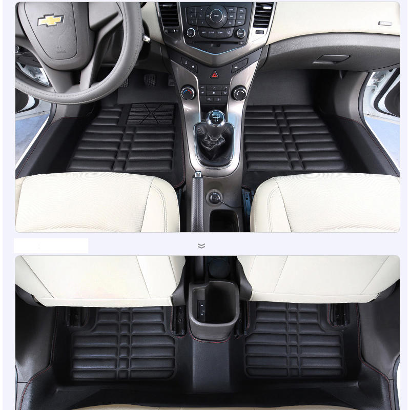 fast shipping waterproof fiber leather car floor mat carpet rug for chevrolet cruze Daewoo Lacetti Premiere J300 2008-2015 high quality car central station mat sticker for chevrolet cruze black 1pcs free shipping kl12329