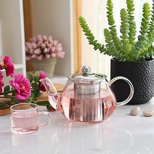 Borosilicate Glass Teapot Infuser Strainer