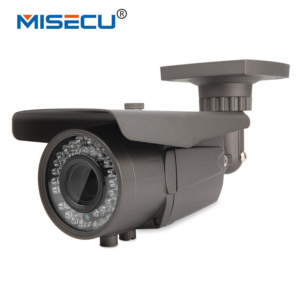 imágenes para Misecu onvif 1280*720 cámara de 1.0mp ip 42 leds ir 2.8-12mm lente de zoom para cámara exterior ip66 p2p cctv red de vigilancia de seguridad