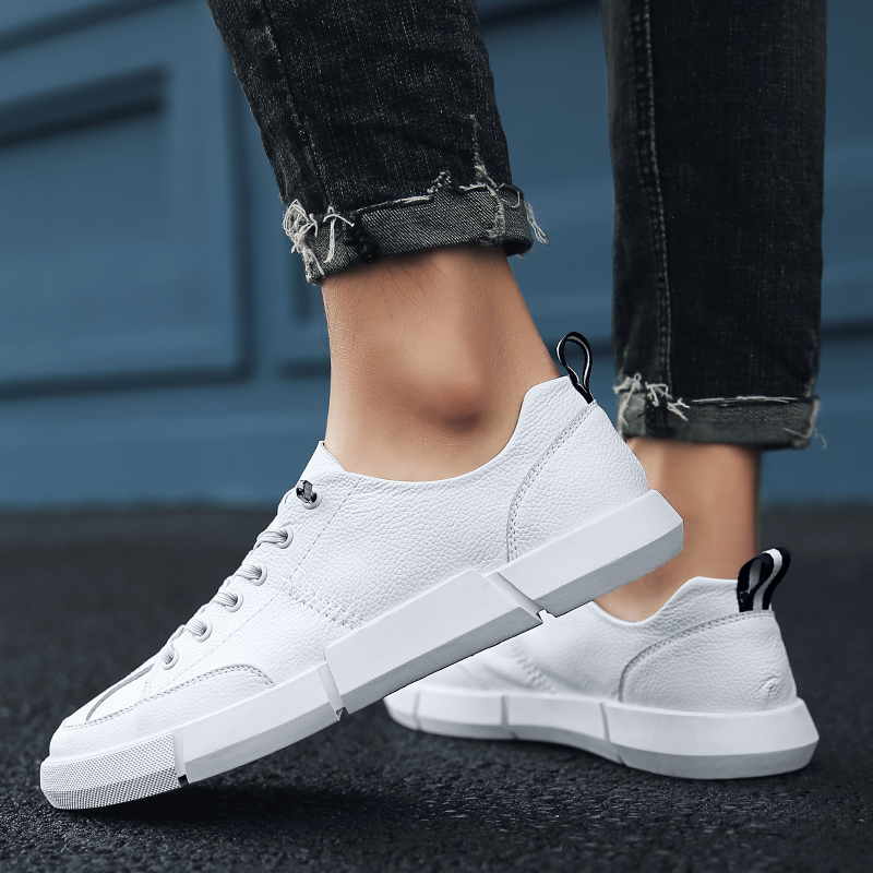 Luxury Brand Men Shoes Leather Casual Black White Shoes Mens Krasovki Spring Autumn Lace Up Men Tenis Fashion Sneakers 5 urbanfind men lace up casual shoes black white blue eu size 39 44 brand fashion men leather footwear for spring autumn