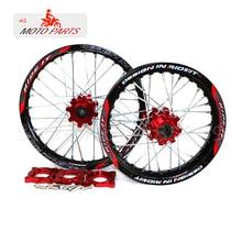 15 мм передняя 1,60-17 задняя 1,85-14 дюймов обод колеса из сплава с ЧПУ ступица для KAYO HR-160cc TY150CC Dirt Pit bike 14/17 дюймов Золотое колесо
