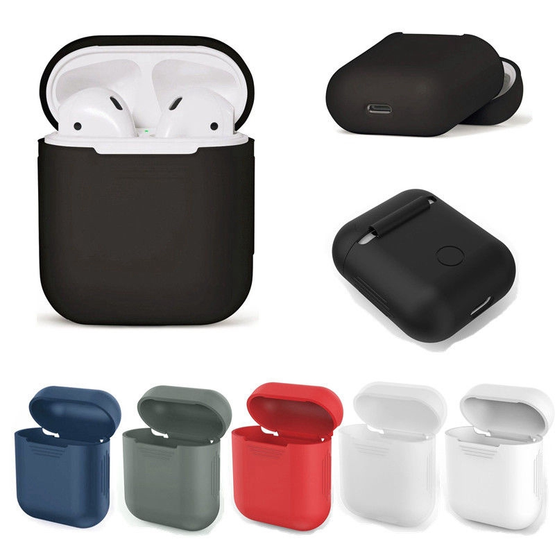 MAYITR Silicone Carrying Case Skin Sleeve Pouch Box Shock Proof Protect for Wireless Earphone Headphone Accessory