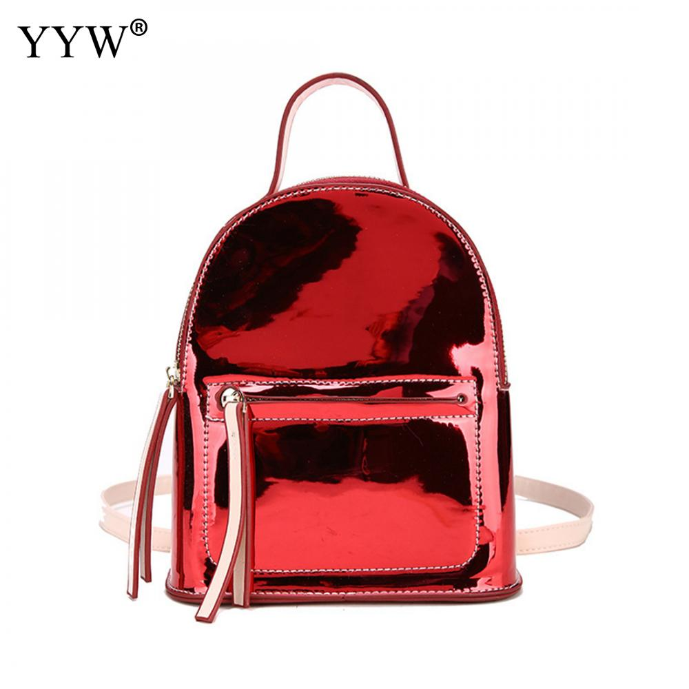 PU Leather Women Backbags Double Straps Schoolbag Backpack For Girl 2018 Small Womens Travel Bag Mochila Escolar Feminina Rugzak