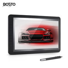 Discount! BOSTO 13HD 13″ IPS Graphics Drawing Tablet Board Kit 1920 * 1080 2048 Pressure Level 2 in 1 Fast Transmission Cable 8 Shortcuts