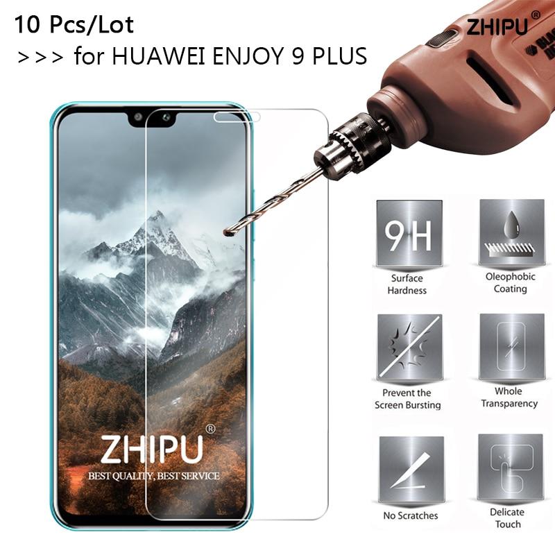 10 pçs/lote Y9 2019 Vidro Protetor de Tela de Vidro Temperado Para Huawei 2.5D Y9 9H de Vidro Temperado Para Huawei 2019 desfrutar 9 Plus