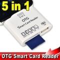 5 em 1 micro usb v8 otg smart card reader para adaptador sd MS MMC M2 TF leitor de Cartão de Kit de Conexão para S2 S3 S4 Telefones Android