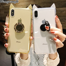 Glitter Phone Case For iPhone 7 8 6 Plus iphone case silicone XS MAX XR Back Cover Fashion cute X