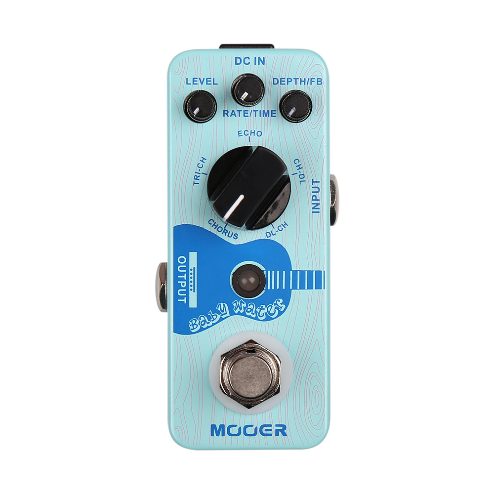 Mooer Baby Water Chorus Delay Acoustic Guitar Effects Pedal True Bypass Digital Stompbox mooer single acoustic delay chorus effects true bypass baby water effect guitar pedal