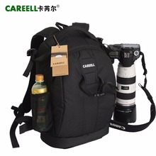 лучшая цена C1098  CAREELL Bag Camera Backpack DSLR Camera Bag Waterproof Soft Shoulders Bag Men Women Backpack For Canon/Nikon Camera