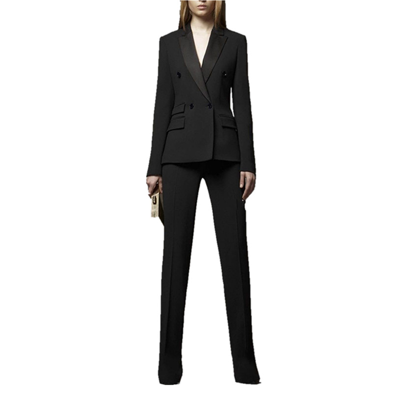 New Pants suit Bespoke Womens Business Suit Office Jacket And Pants Suit Work Wear Set b ...
