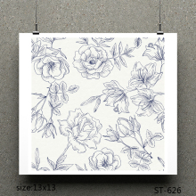 ZhuoAng bloom design stamp / scrapbook rubber craft clear card seamless