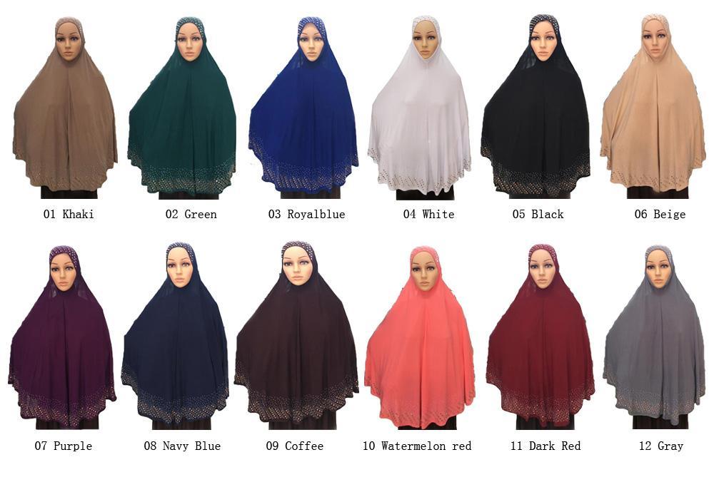 khimar hijab islamique Pri/ère V/êtements Chapeau,