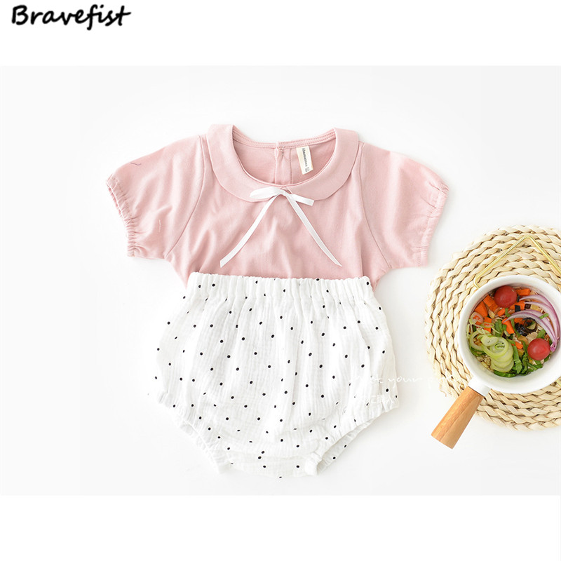 3bd2bac1a3b Summer 100% Cotton T shirts For Baby Girls 0 24Months Bowknot Kids White  Pink Tops Short Sleeve Children Clothing Infant Tees-in Tees from Mother    Kids on ...