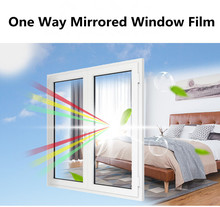 Window Film One Way Mirror Privacy Self-Adhesive Decorative Heat Control Anti UV Tint for Home and Office 45cm x 1m