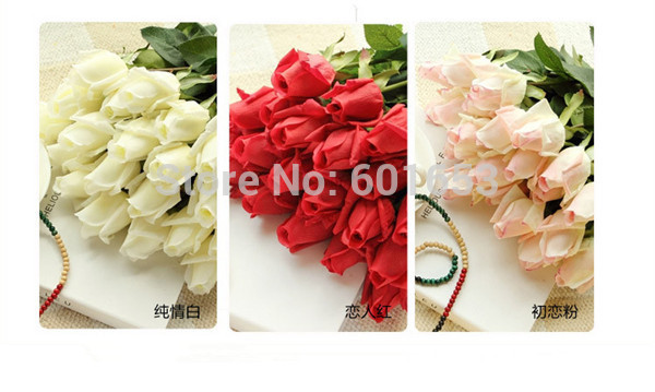 30pcs/lot Frugal Decor Flowers Fresh Rose Artificial Flowers Real Touch Rose Flower Home Decorations For Wedding Party Or Birthday Selling Well All Over The World